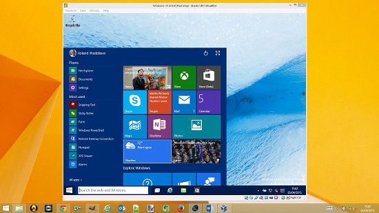 Run Windows 10 in VirtualBox