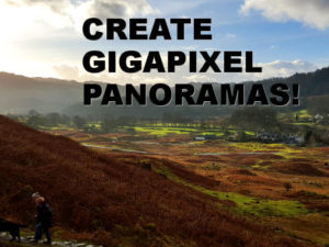 Create panoramic images from your video clips