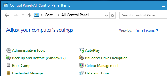 Windows Control Panel