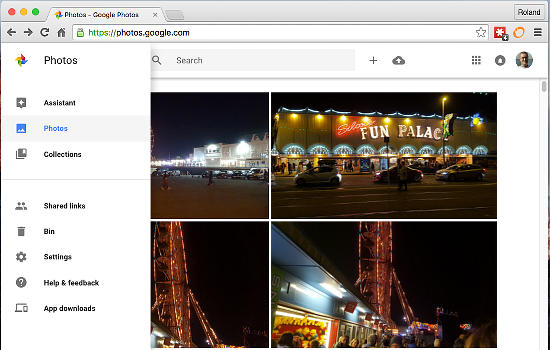 Google Photos in Chrome