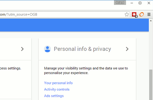 Google account options