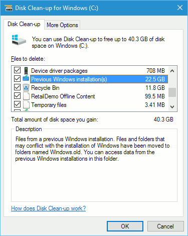 Windows Disk Clean-up