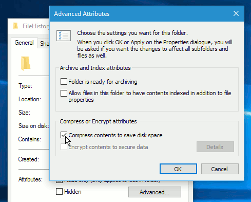Compress files in Windows