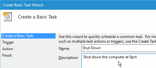 Task Scheduler in Windows
