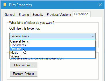 Windows folder properties