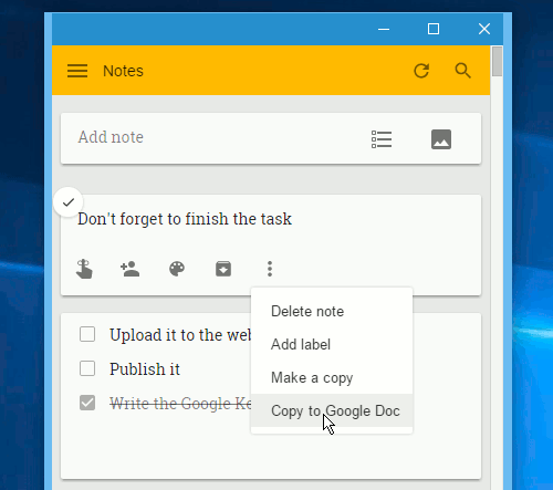 how to get notes off google keep