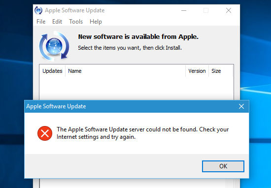 Apple Software Update error