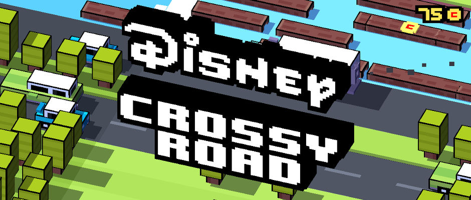 In Disney Crossy Road you can play with your favourite Disney characters in scenes from the movies