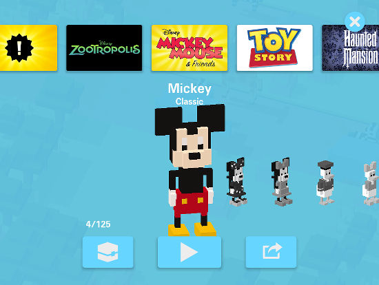 Collect all your favourite Disney and Pixar characters in Disney Crossy Road