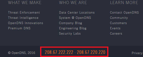 OpenDNS free DNS servers - the addresses you need