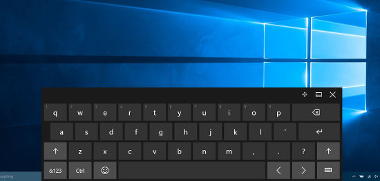 Windows touch keyboard