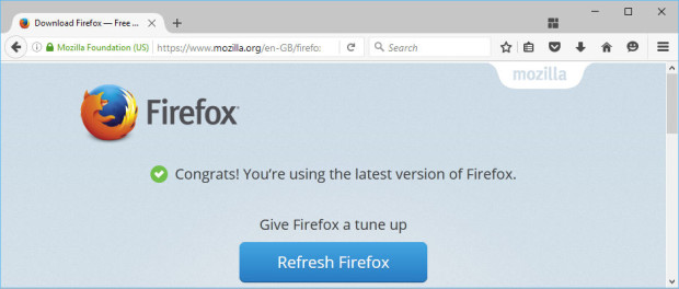 Mozilla Firefox is an alternative to Microsoft Edge and Internet Explorer. Refresh it to fix problems.
