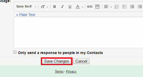 Save Gmail settings