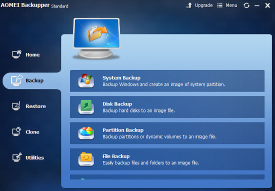 Backupper Standard free Windows backup utility