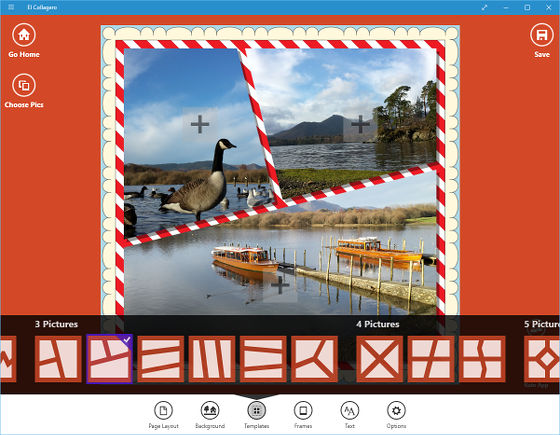 El Collagero collage maker for Windows 10