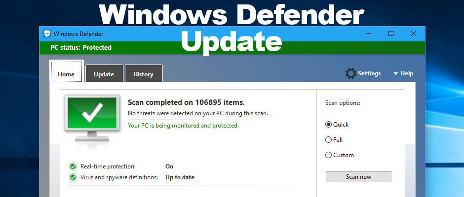 Windows defender uninstall vista for Window defender update