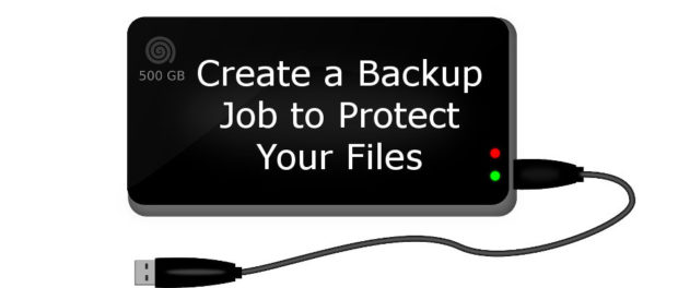 Create a backup job to protect your files and save them to a USB disk drive | rawinfopages.com