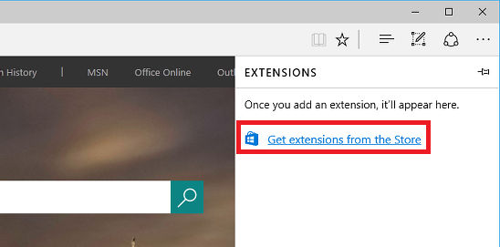 How to install extensions in Edge browser
