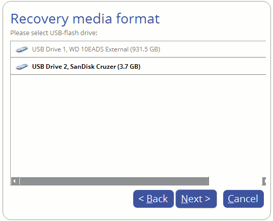 Paragon Backup and Recovery 16 recovery media builder
