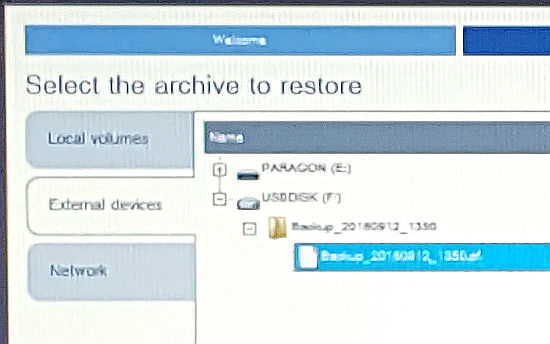 Paragon Backup and Recovery 16 recovery media