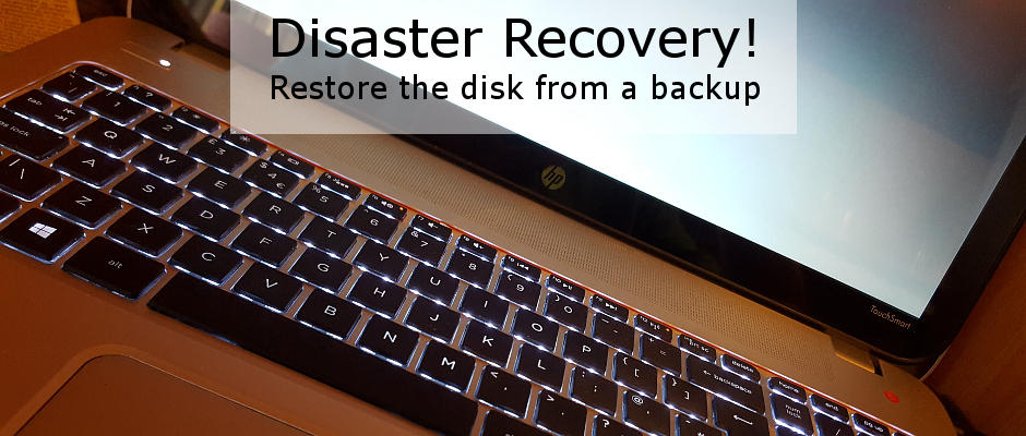 Recover from disk disasters by restoring a backup on a USB disk drive | rawinfopages.com