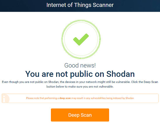 Internet of Things scanner checks if your IoT devices are publicaly available