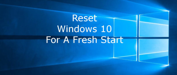 Refresh Windows 10 for a clean start without the bloatware - how to clean install Windows 10 | rawinfopages.com