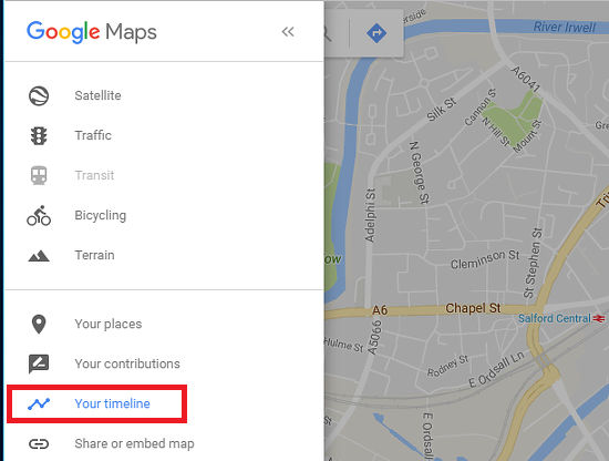 Google Maps Timeline shows where you were and where you went on any day in the past
