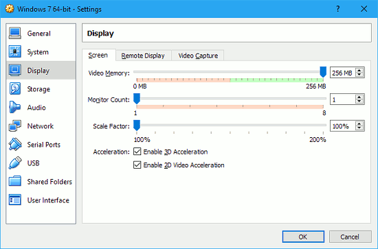 Allocate more video memory to speed up the guest OS in a virtual machine
