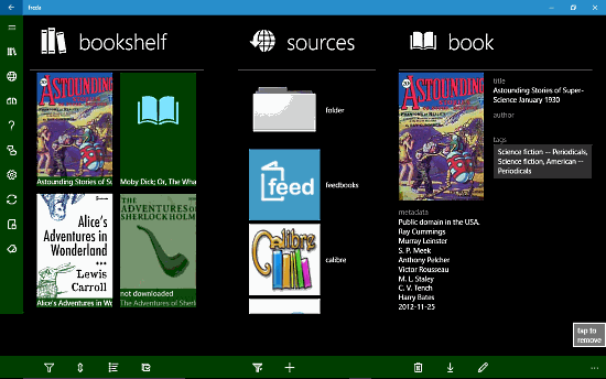 Freda ebook reader for Windows 10