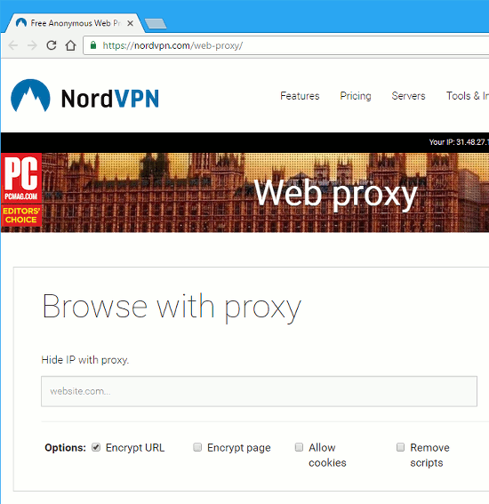 Browse the web using a proxy for extra privacy