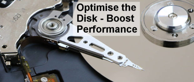 A mechanical disk drive benefits from defragmenting and optimising. Use a defrag tool to boost the speed.