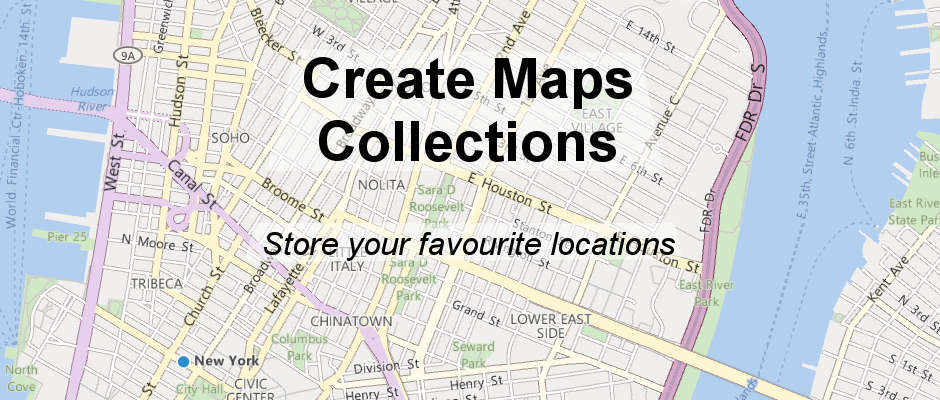 Create collections in the Windows 10 Maps app and store your favourite places in them