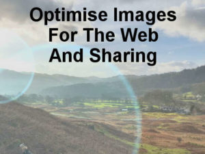 Optimise images for the web. Shrink them and compress them to make them smaller and speed up web pages