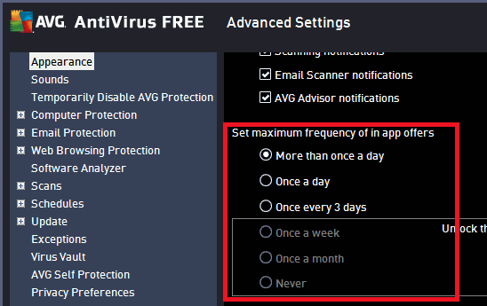 Stop ads in AVG and they will become far less irritating.