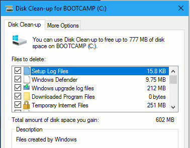 how to fix disk cleanup when not working