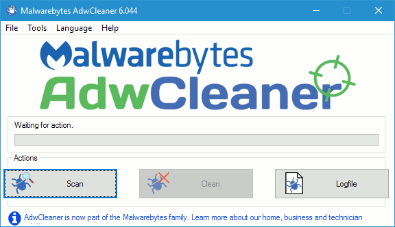 AdwCleaner removes adware and browser toolbars