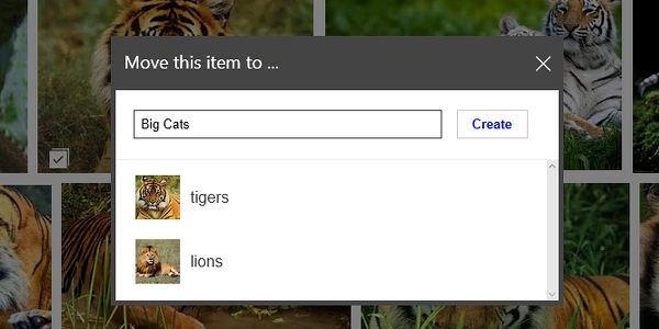 Create collections of saved images or videos at Bing