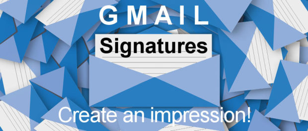 Create an impressive Gmail signature and include it in all your email messages. Add text, links and images