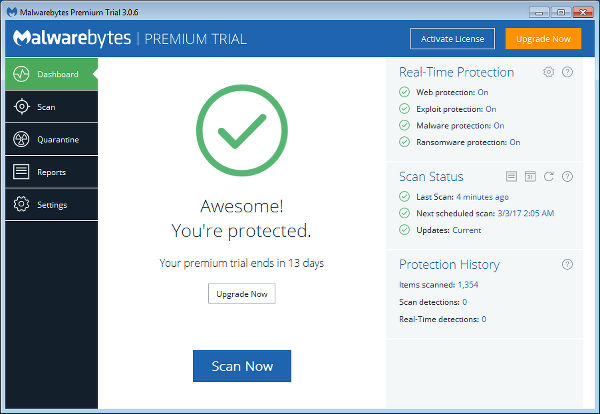 Malwarebytes Windows cleanup tool