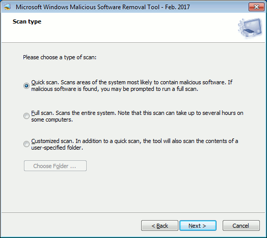 Microsoft Malicious Software Removal Tool for Windows