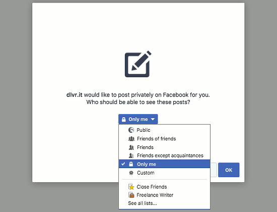 Some web services and apps want to post to Facebook