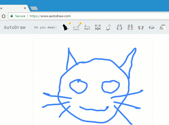 Google AutoDraw tries to guess what you are drawing