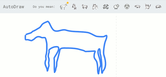 My bad drawing of a horse