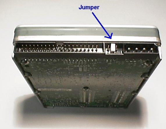 Disk drive jumper settings