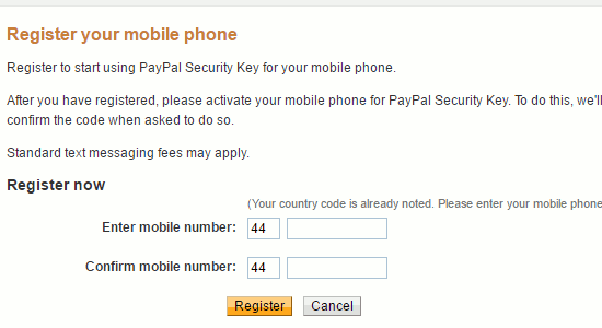 Add your phone to PayPal as a trusted device