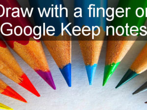Learn a new trick with Google Keep - draw on the screen with a mouse or finger and insert the drawing into a note. Drag and drop drawings in Google Keep into Google Docs documents.