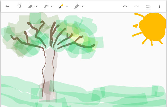 Drawing on a note in Google Keep
