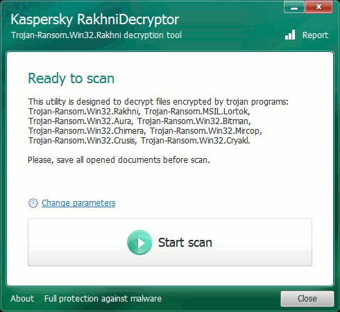 Kaspersky tool to decrypt files encrypted by ransomware