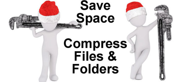 Save disk space on your Windows PC by using these compression techniques. Use the Compact command to compress Windows operating system files.